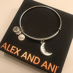 ALEX AND ANI: Silver Moon Bangle